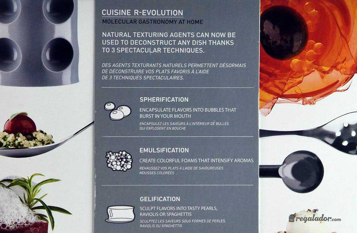 Cuisine R-Evolution: kit de gastronomía molecular en Regalador.com