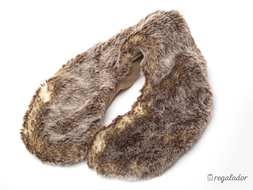 Lujoso cojín de pelo para el cuello  frío – calor