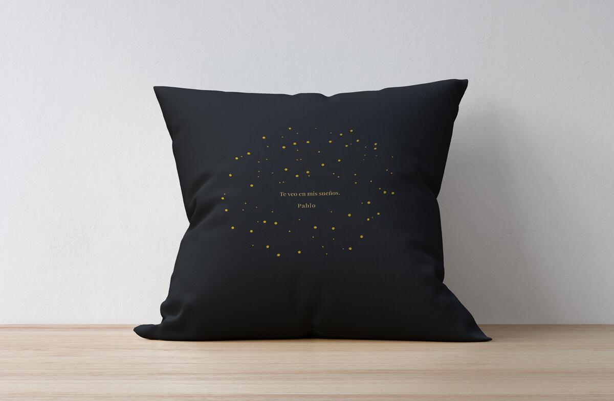 Cojín personalizado modelo estrellas