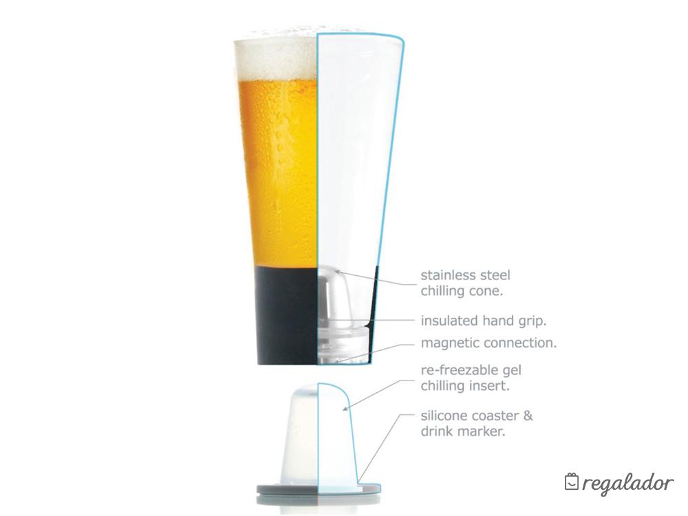 Vasos que mantienen frías las bebidas