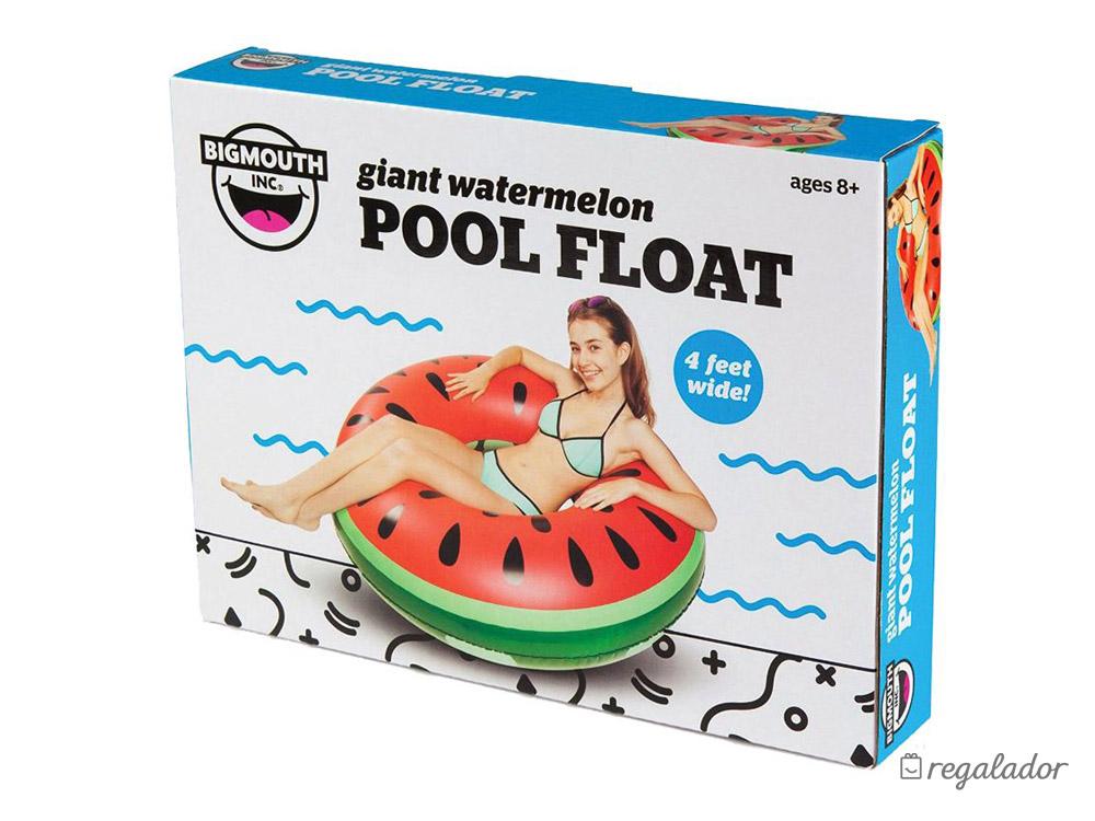 Flotador gigante con forma de sandía