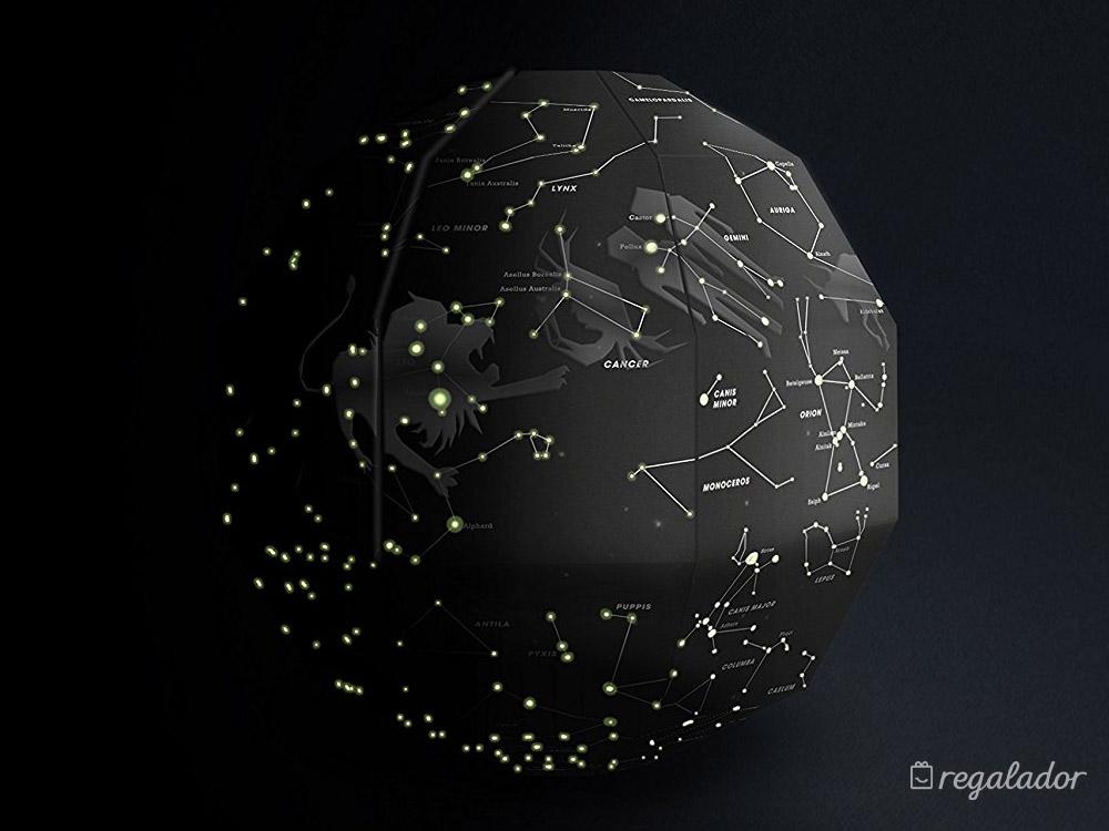 Mapa de las constelaciones que brilla en la oscuridad