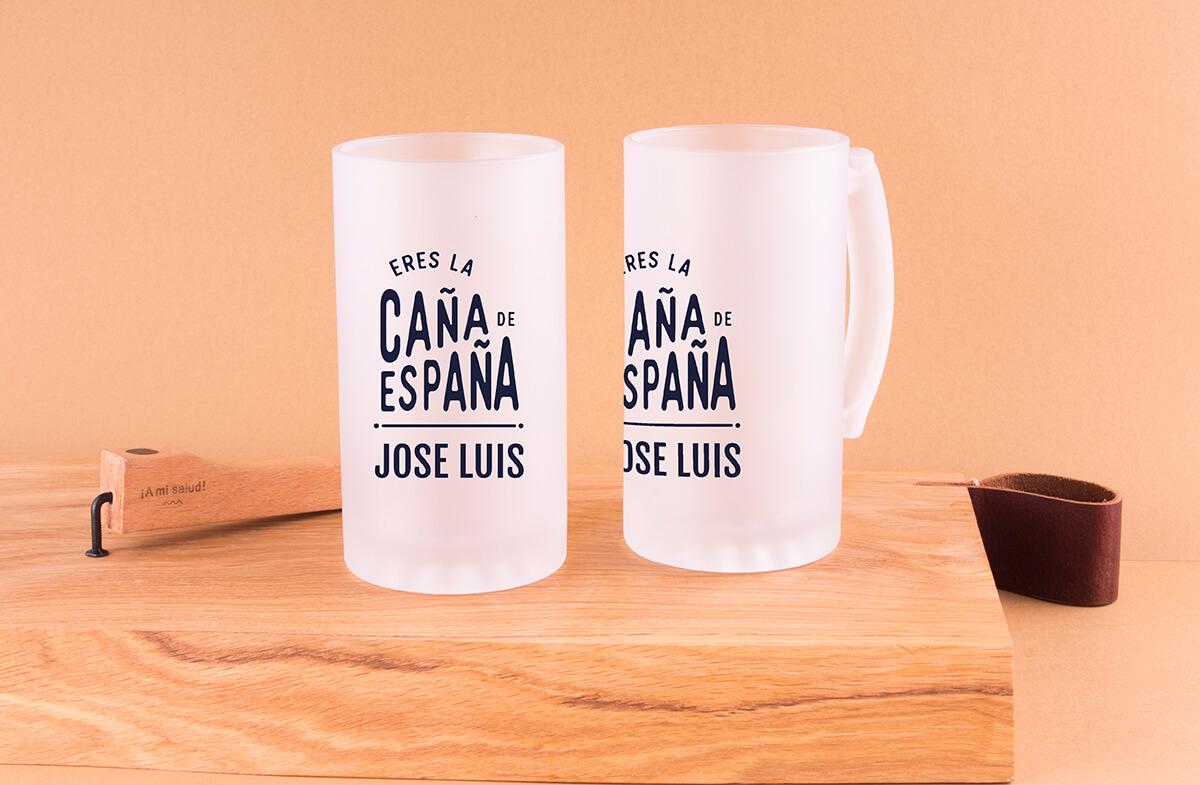 Jarras cerveza personalizadas, «Caña de España»