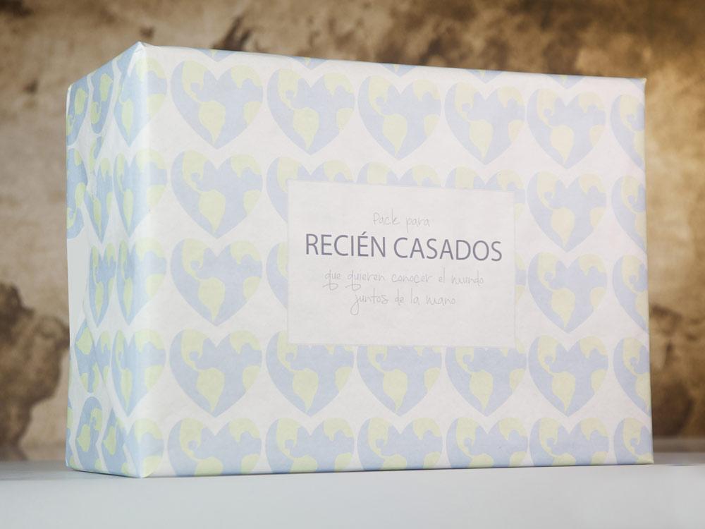 Pack de regalo para reci n casados viajeros en - Sorpresas para recien casados ...