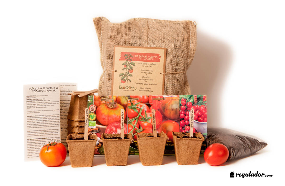 Kit ecol gico para cultivar tomates en for Kit de cultivo de interior
