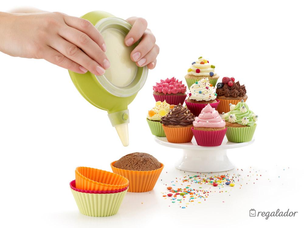 Kit de l ku para hacer y decorar cupcakes en for Decoracion en cupcakes
