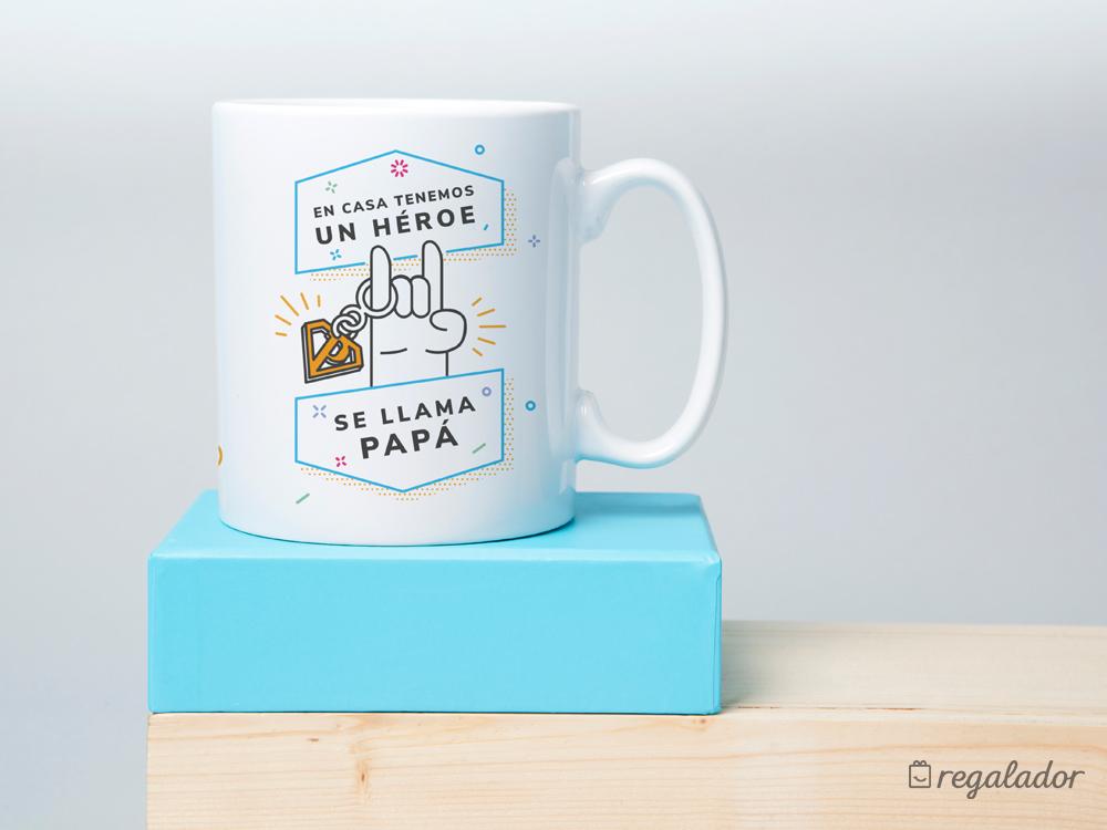 Kit de taza y llavero para súper padres
