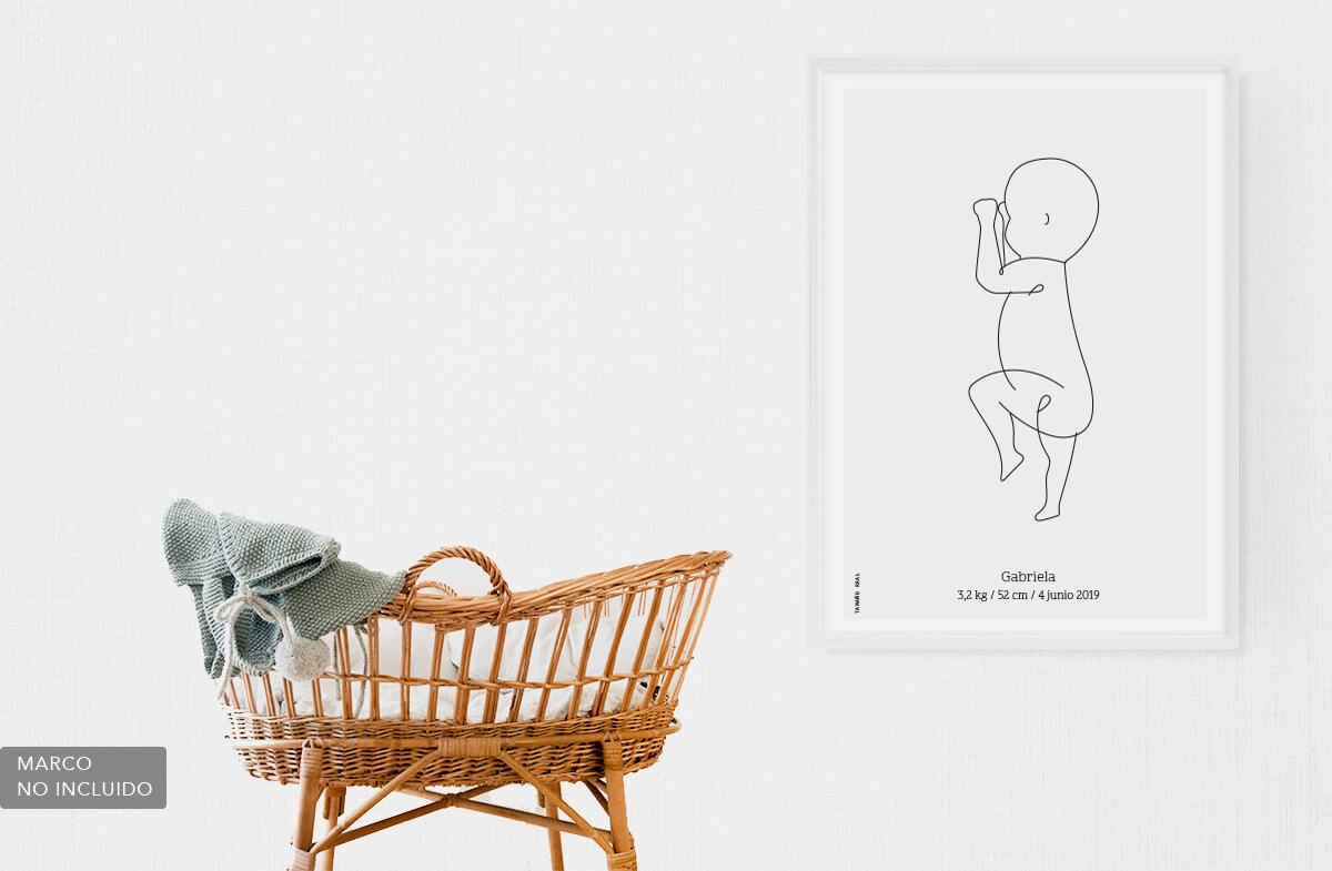 Lámina personalizada de tu bebé a tamaño real