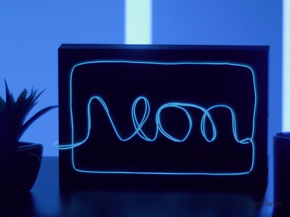Lámpara de neón personalizable