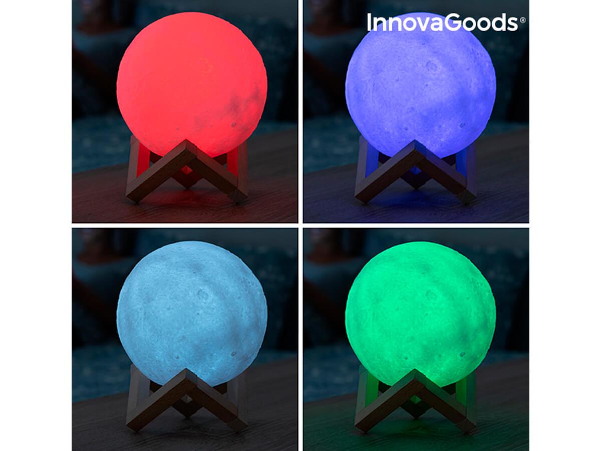 Lámpara LED con forma de luna