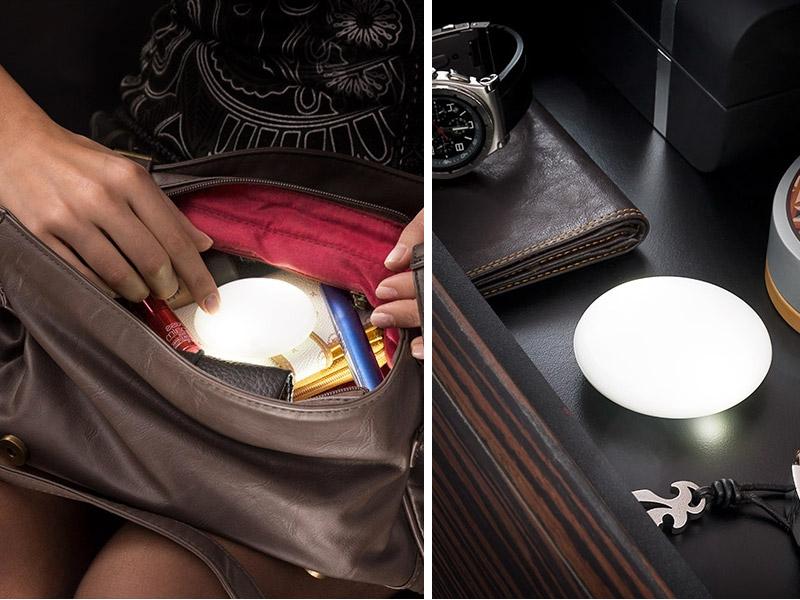 Luz led para encontrar las cosas en el bolso