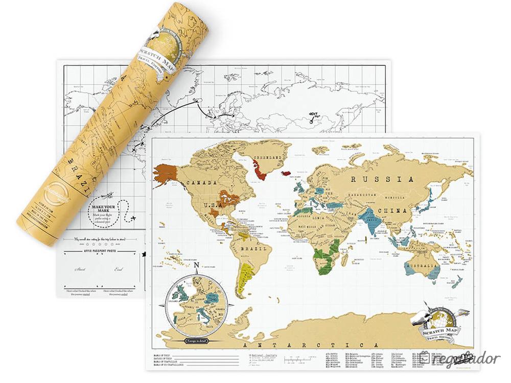 Regalador  Mapa para rascar los pases que has visitado Envo