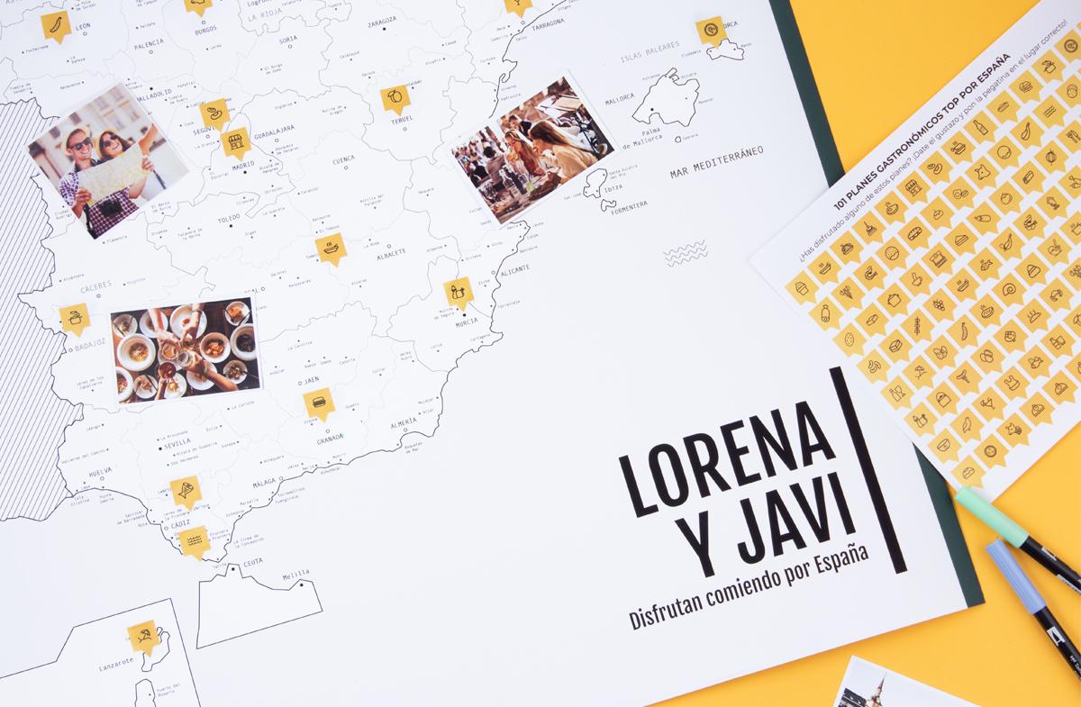 Mapa Gastronómico de España personalizado