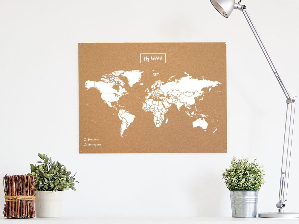 Mapamundi de corcho para tus viajes en Regalador.com