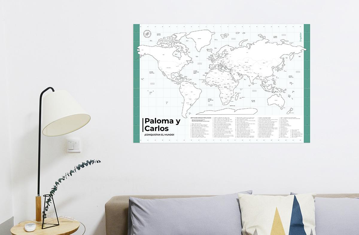 Mapa del mundo personalizado