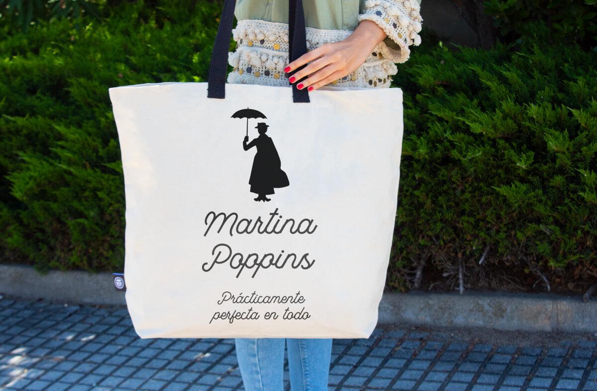 Maxibolso personalizado modelo Mary Poppins