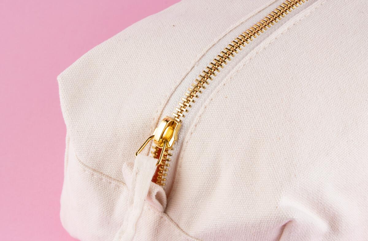 Neceser de algodón personalizado, «Inicial dorada»