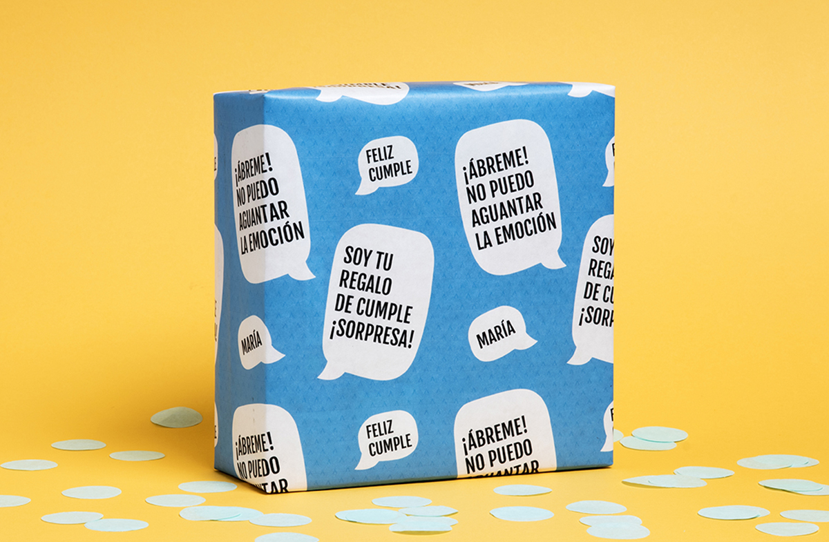 Papel de regalo personalizado modelo chat