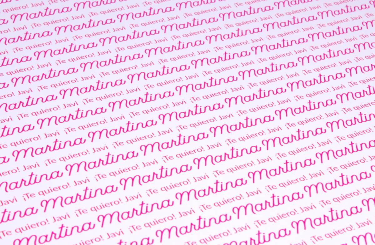 Papel de regalo personalizado modelo tu nombre