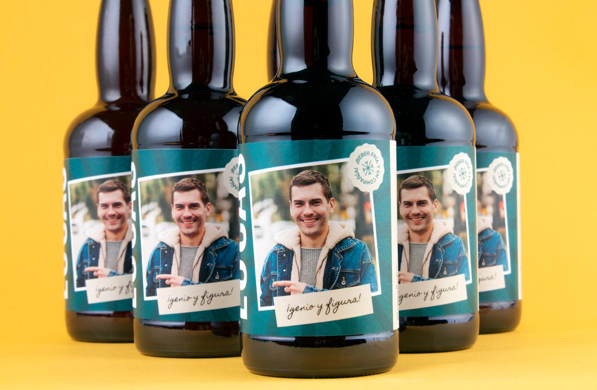 """Pack de cerveza personalizada """"Genio y Figura"""""""