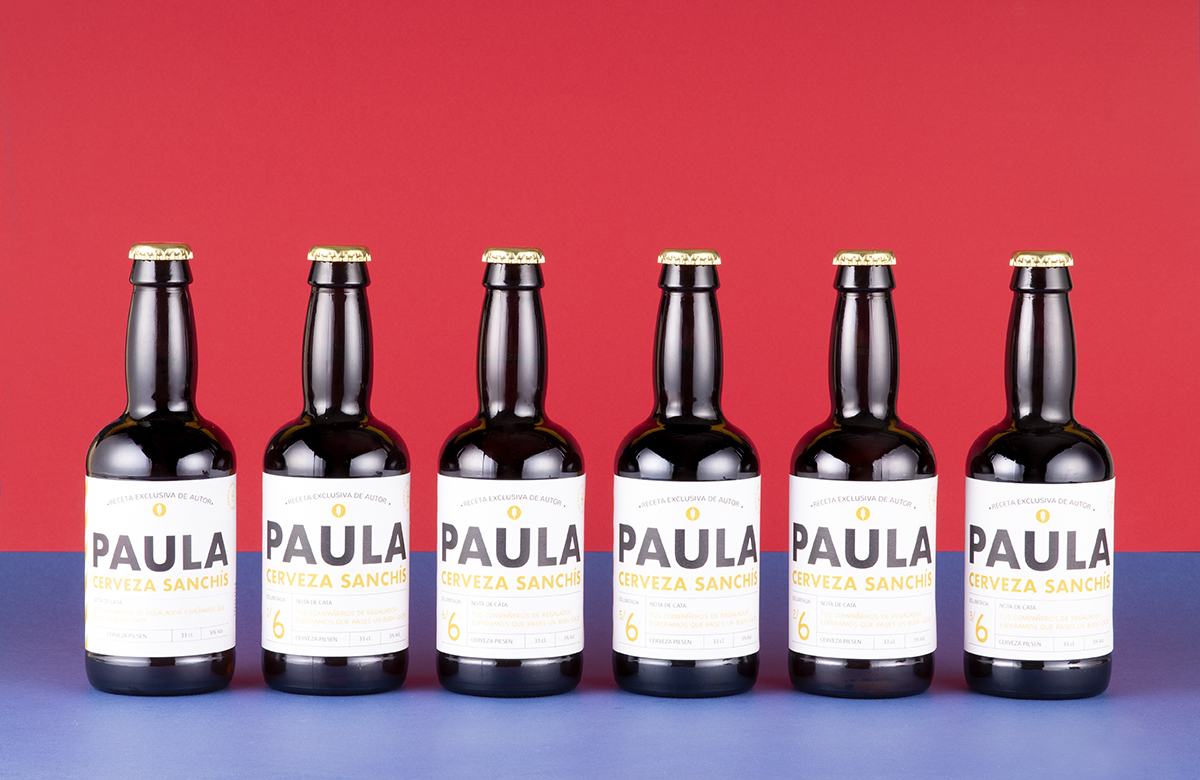 Pack cerveza personalizada, «Minimal»