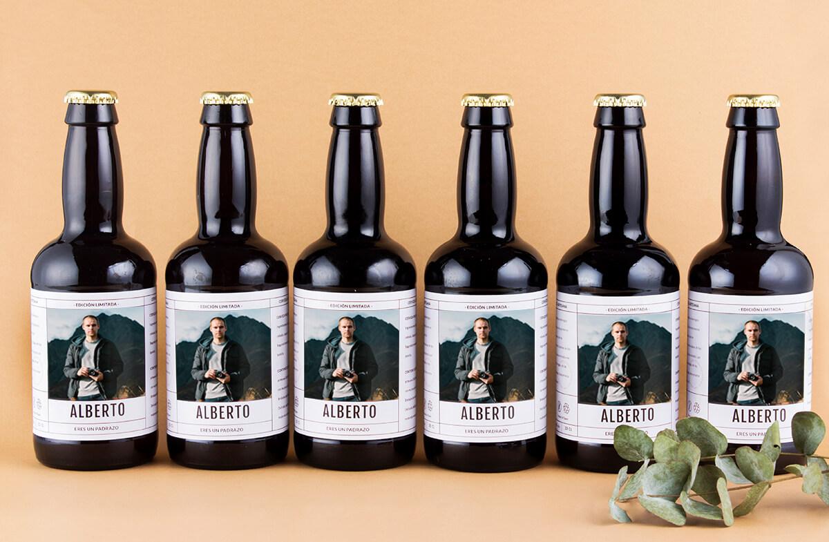 Pack cerveza personalizada, «Minimalista»
