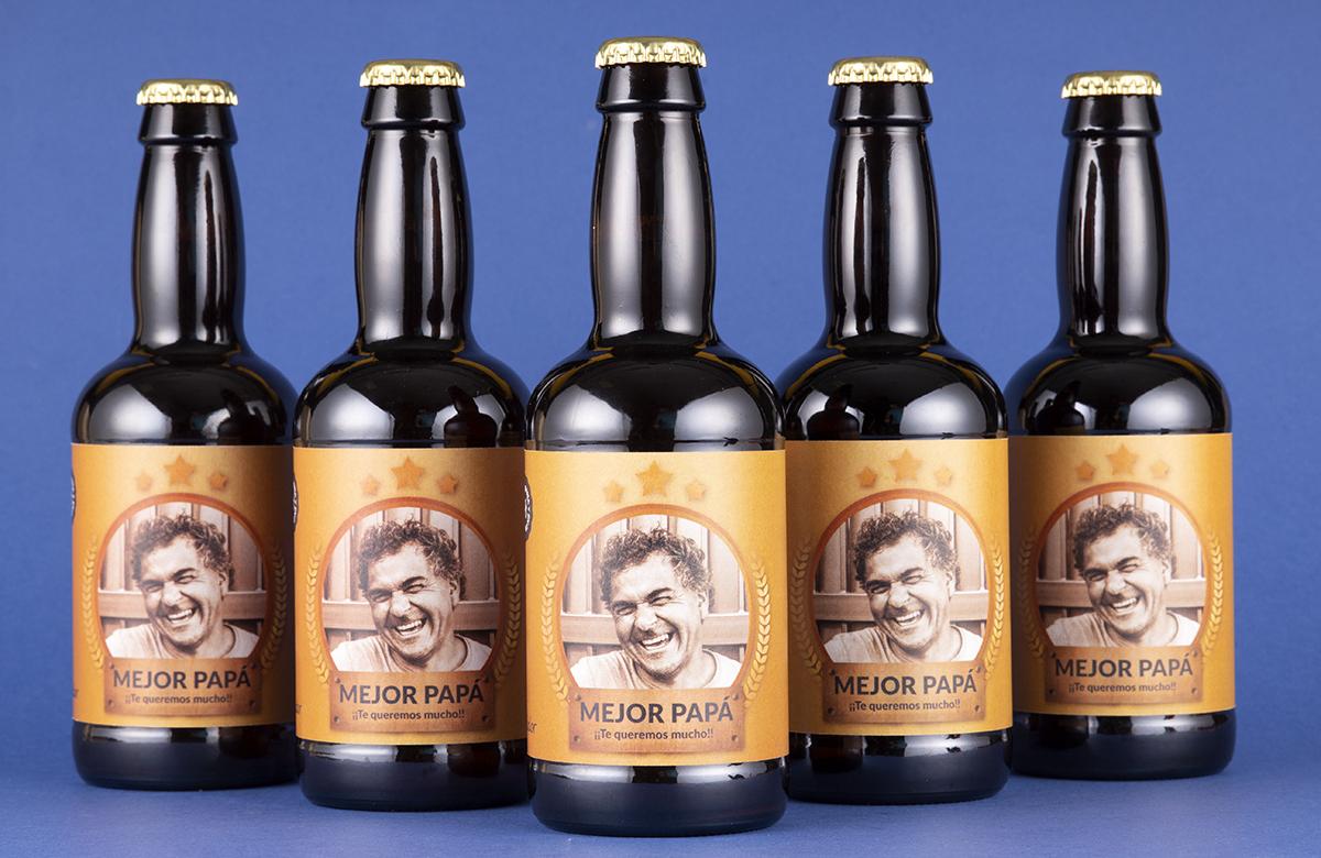 Pack de cerveza personalizada. Modelo Orla