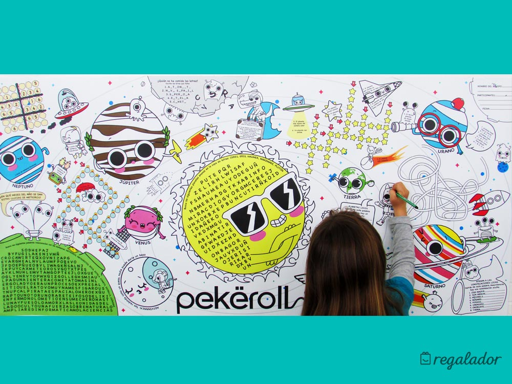 Posters de pared para colorear