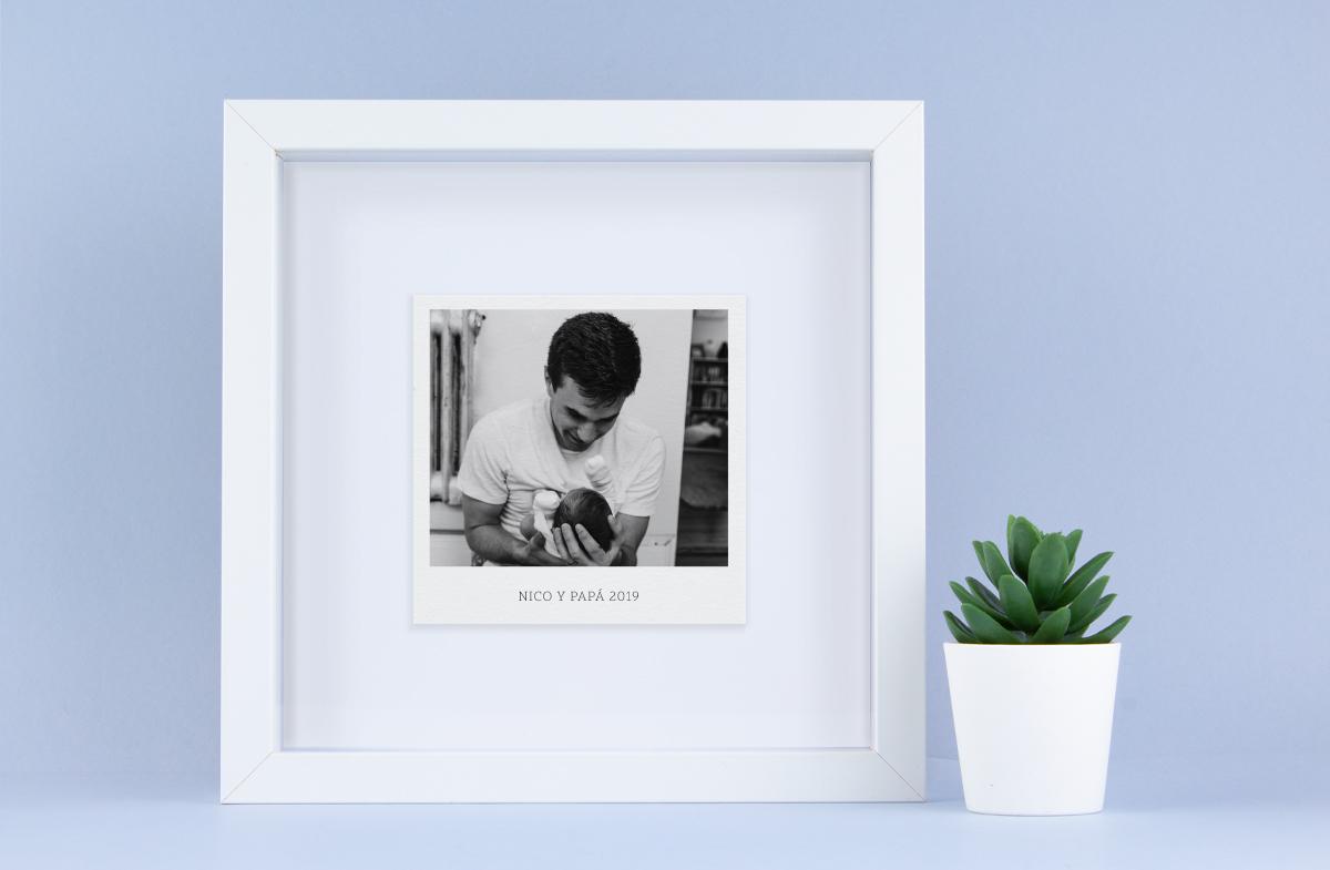 Lámina con foto instantánea personalizada