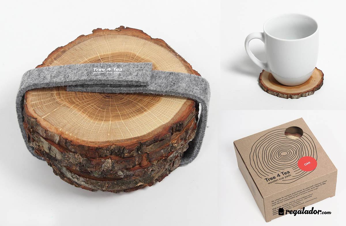Posavasos de madera natural en - Como hacer posavasos ...
