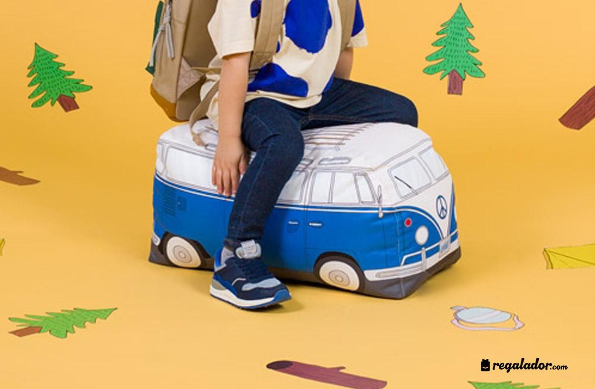 Puff para ni os con forma de furgoneta en - Puffs para ninos ...