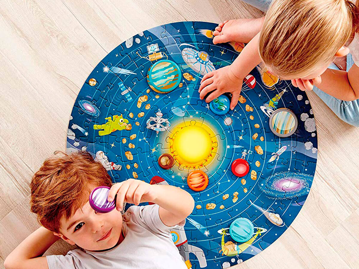 Puzle gigante del sistema solar