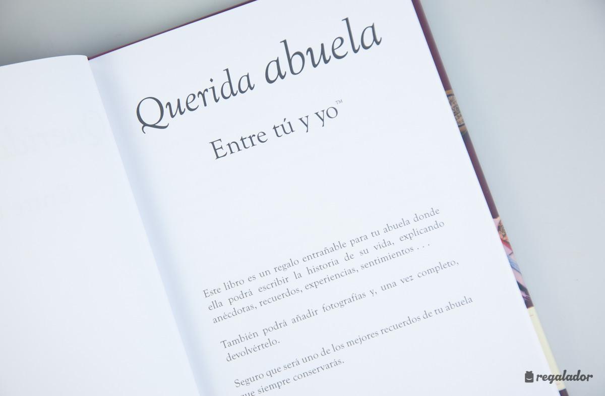 El libro personalizable para abuelas y nietos en Regalador.com