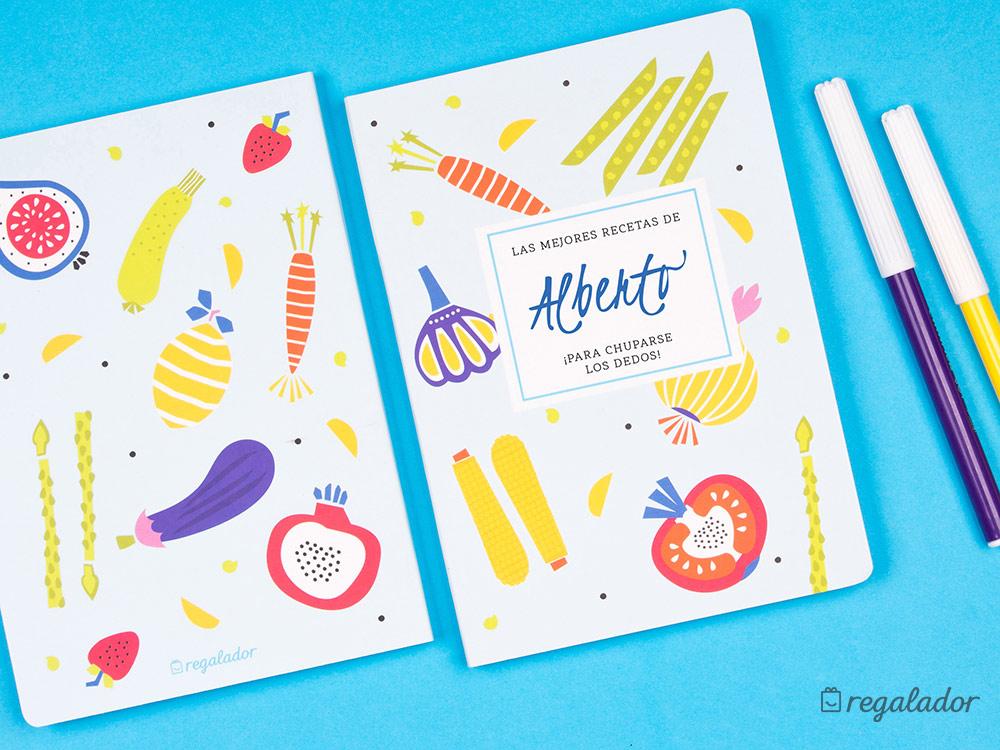 Libro de recetas personalizable para cocinillas