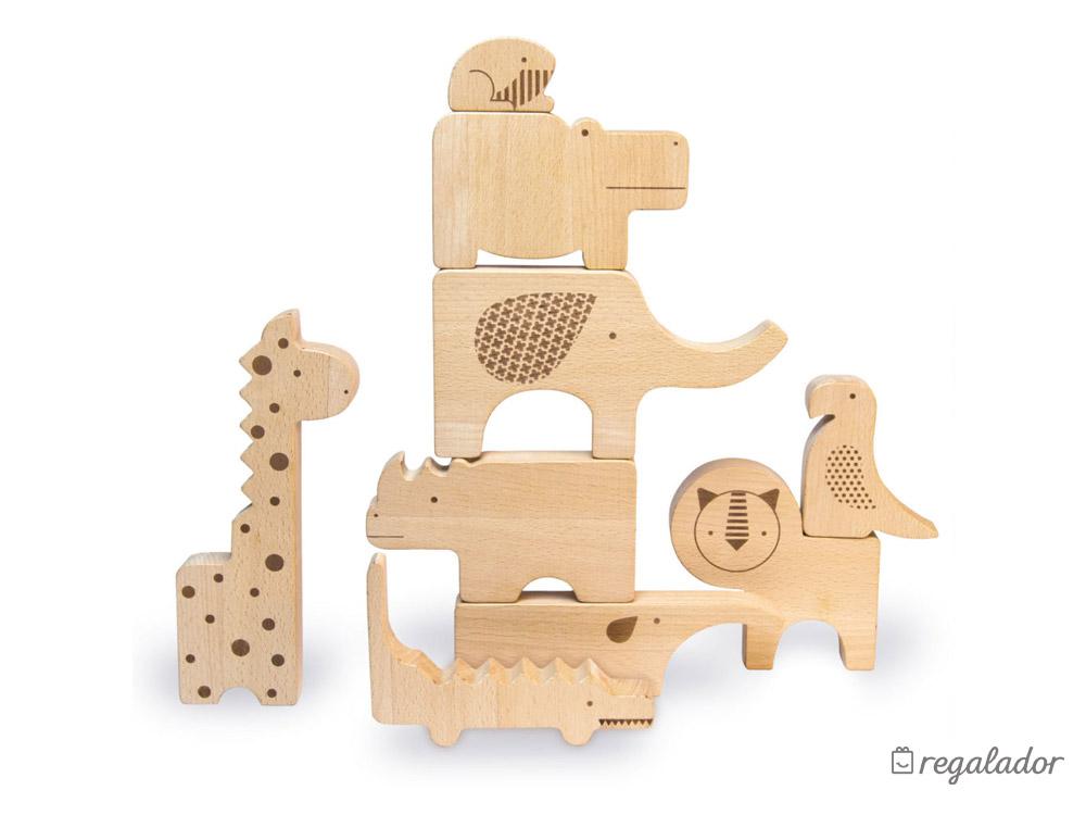 Puzzle de animales de madera para niños en Regalador.com