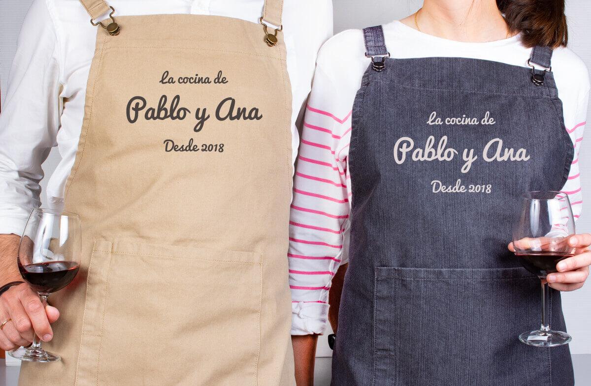 Set personalizado para parejas cocinillas