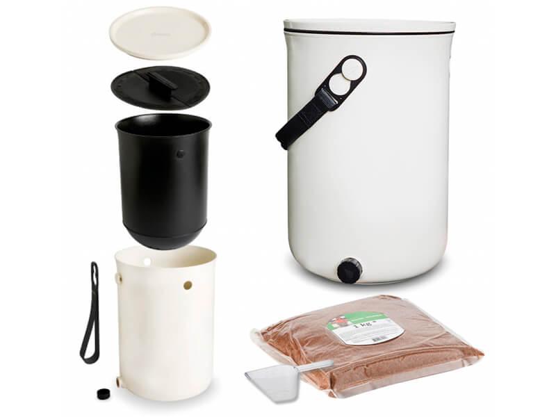 Papelera compostadora para restos orgánicos