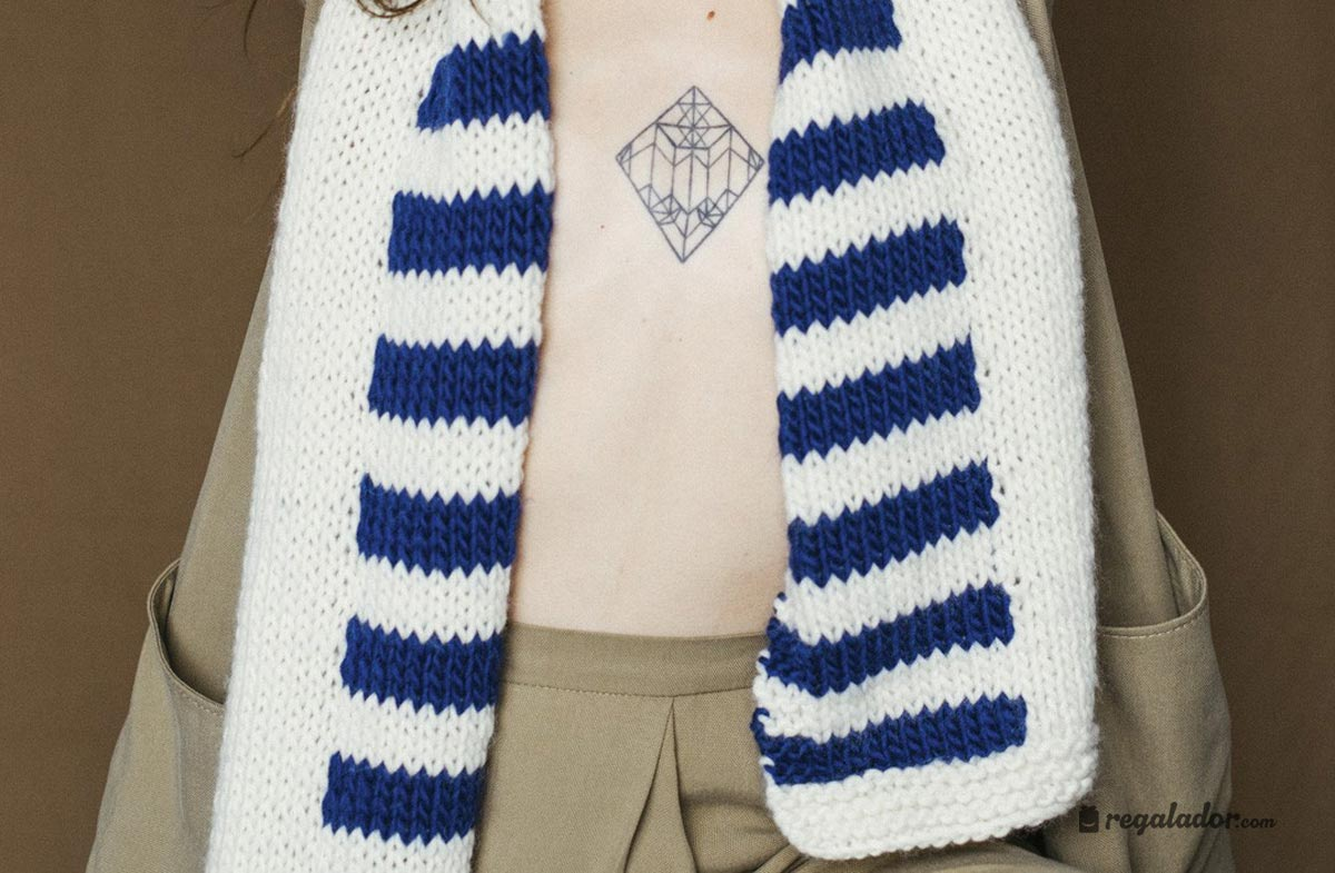 """Kit """"We are knitters"""" para tejer tu propia bufanda de lana en ..."""