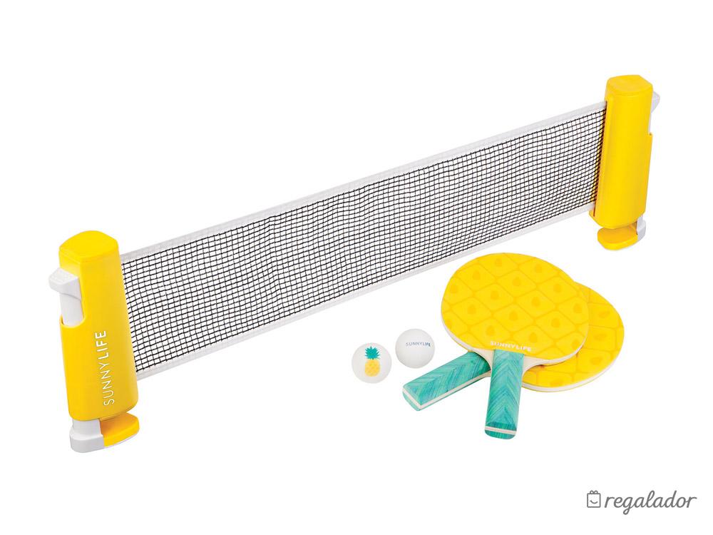 Set de ping pong con diseño de piñas