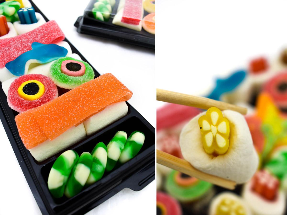 Bandeja de chuches con forma de Sushi