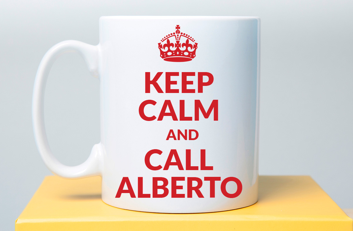 "Taza personalizable ""Keep Calm"""