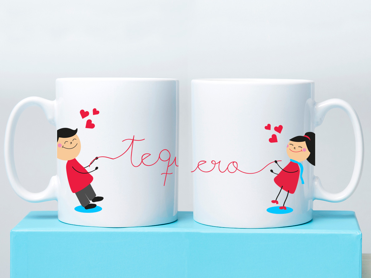 Las tazas m s rom nticas en - Tazas de cafe de diseno ...