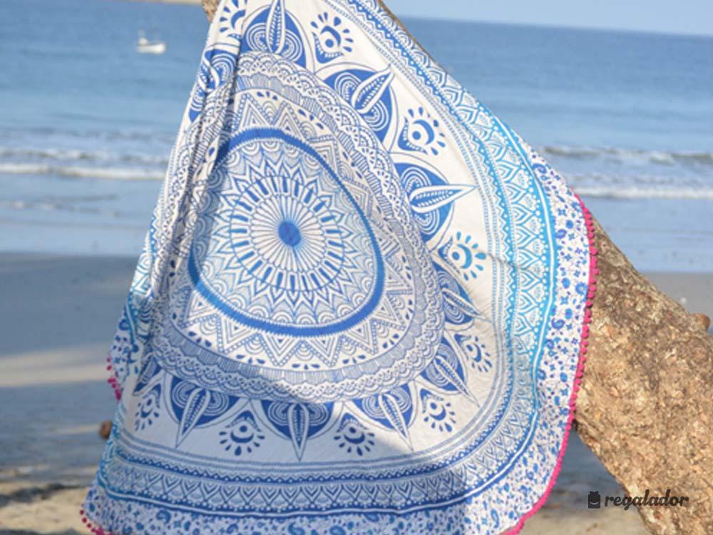 Regalador toallas redondas con dise os mandala - Toallas redondas de playa ...
