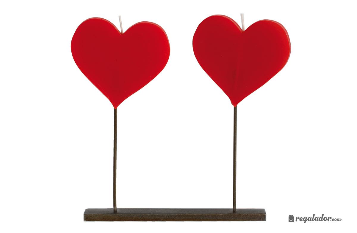 Las velas más románticas con forma de corazón en Regalador.com
