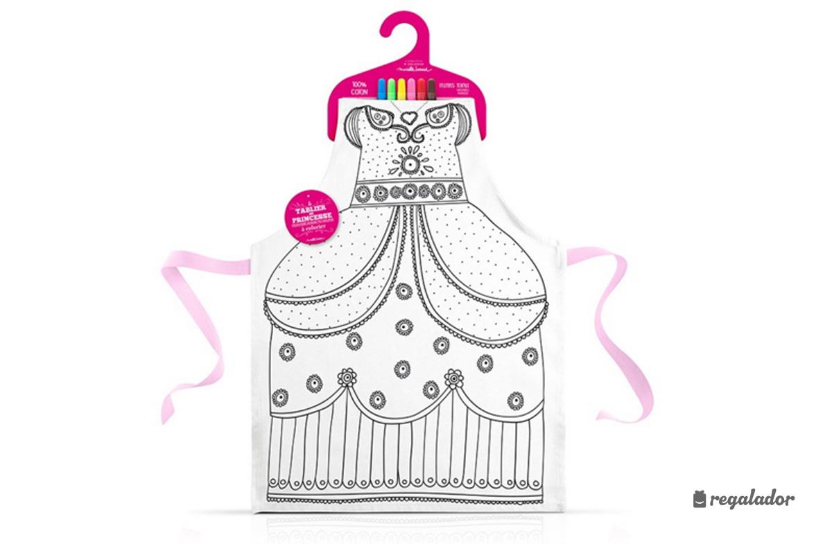 El vestido de princesa para colorear en Regalador.com