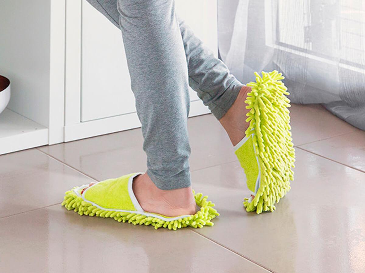 Zapatillas-mopa para estar en casa